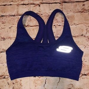 Sketcher sport purple sports bra medium
